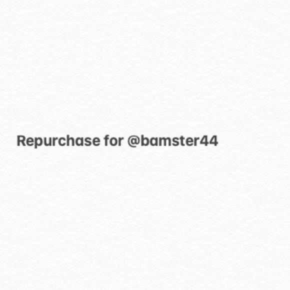 Repurchase for @bamster44